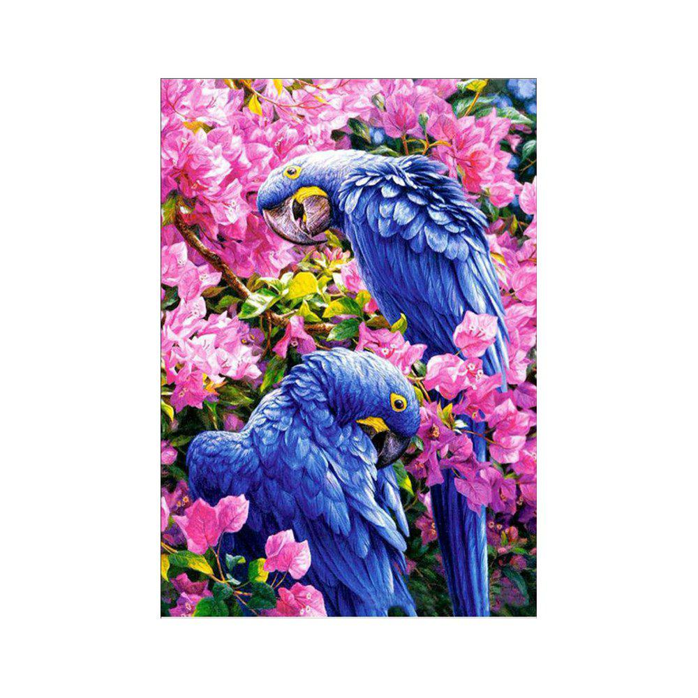 Naiyue X036 Two Parrots Print Draw Diamond Drawing - COLORMIX