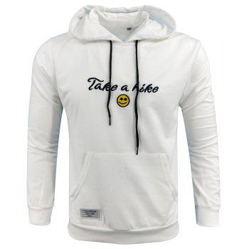 Spring and Autumn Men S Casual Outdoor Sports Hooded Long Sleeved Solid Color Embroidered Letters Hoodie