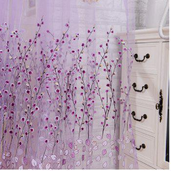 Offset Screen Purple Bloom Curtain - PURPLE FLAT FRONT