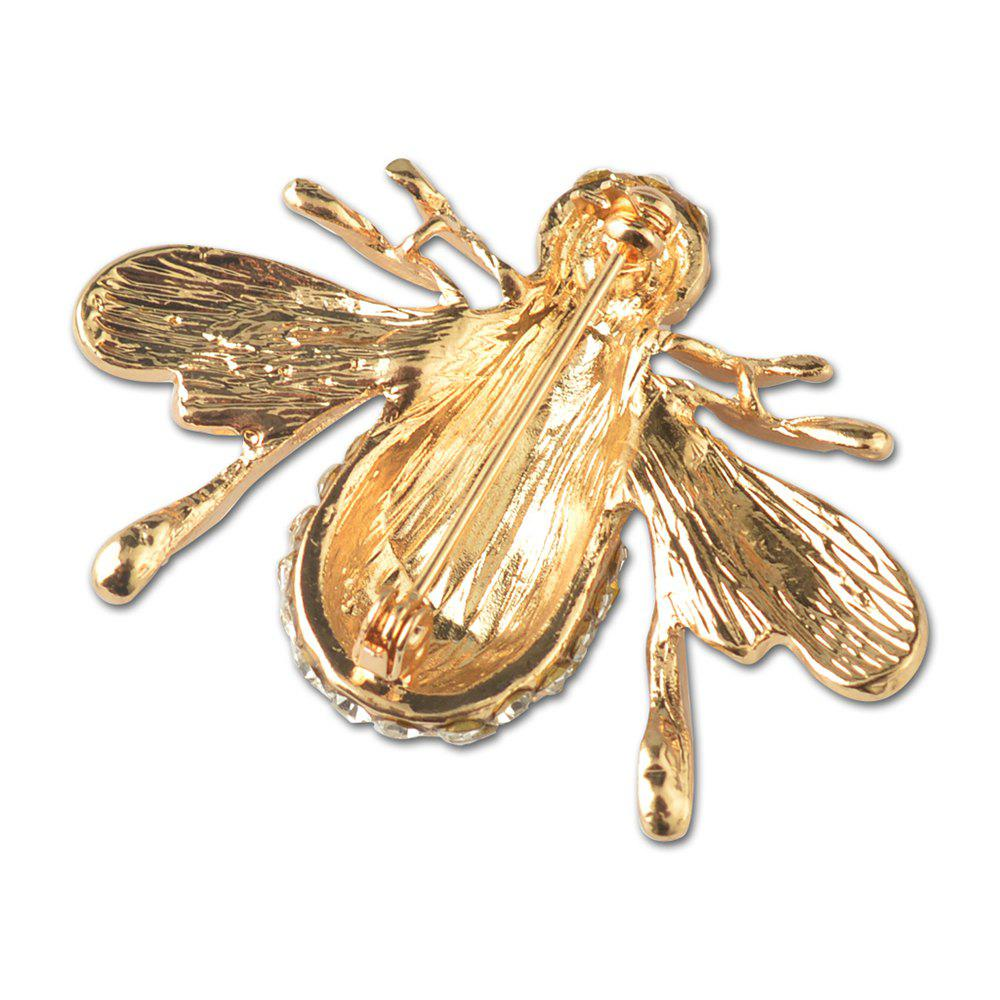 Crystal Lovely Bee Brooch for Woman - GOLDEN
