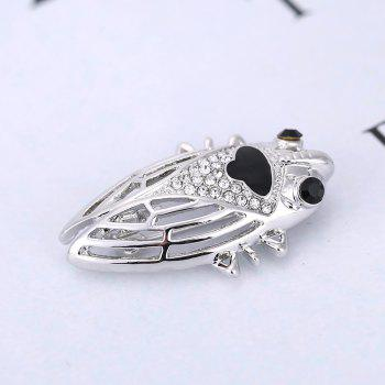 nsect Brooches For Lady Girl Kids Accessories Silver-color Brooch Jewelry Suit Collar Pins Clip - SILVER