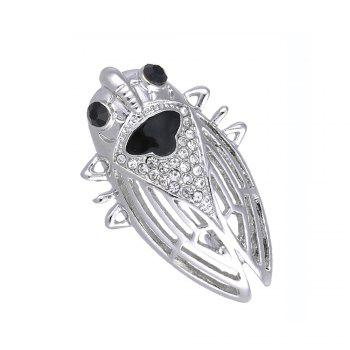 nsect Brooches For Lady Girl Kids Accessories Silver-color Brooch Jewelry Suit Collar Pins Clip - SILVER SILVER