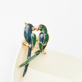 Jewelry Luxury Brooch Gold-Color with Green Enamel Couple Parrot Brooches for Lady Fashion Accessories -  BLUE