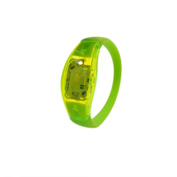 YESHOLD Button LED Bracelet luminescent - Vert