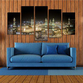 Moderne Frameless Toiles Prints Islamique Maison Décoration Murale 5 pcs - coloré