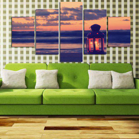Impression sur toile moderne frameless Home Wall Decoration 5panels - coloré