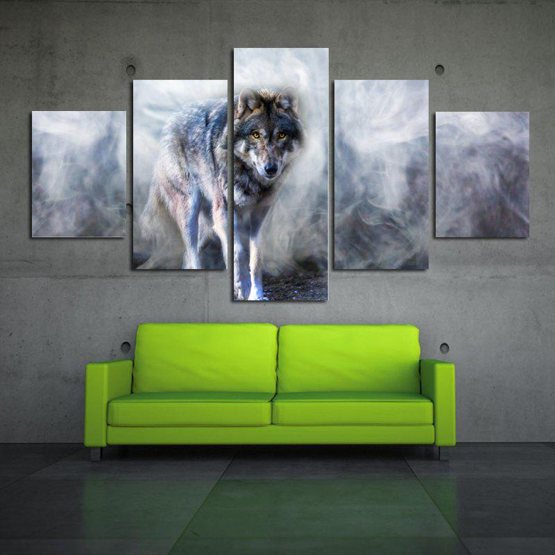 Modern Canvas Prints of Wolf Frameless Home Wall Decoration 5pcs modern instrumentations of pharmaceuticals analysis