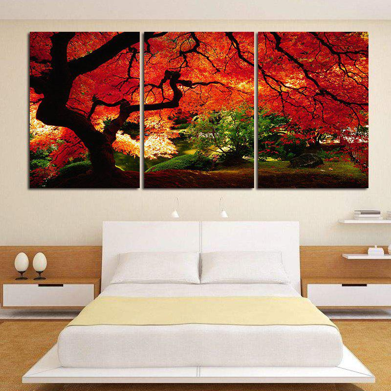 Modern Frameless Canvas Prints of Trees Home Decoration 3pcs - COLORFUL 16 X 24 INCH (40CM X 60CM)