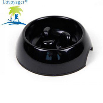 Lovoyager DB-05B Pet Fournitures Mei - Ware Food Bowl - Noir XL