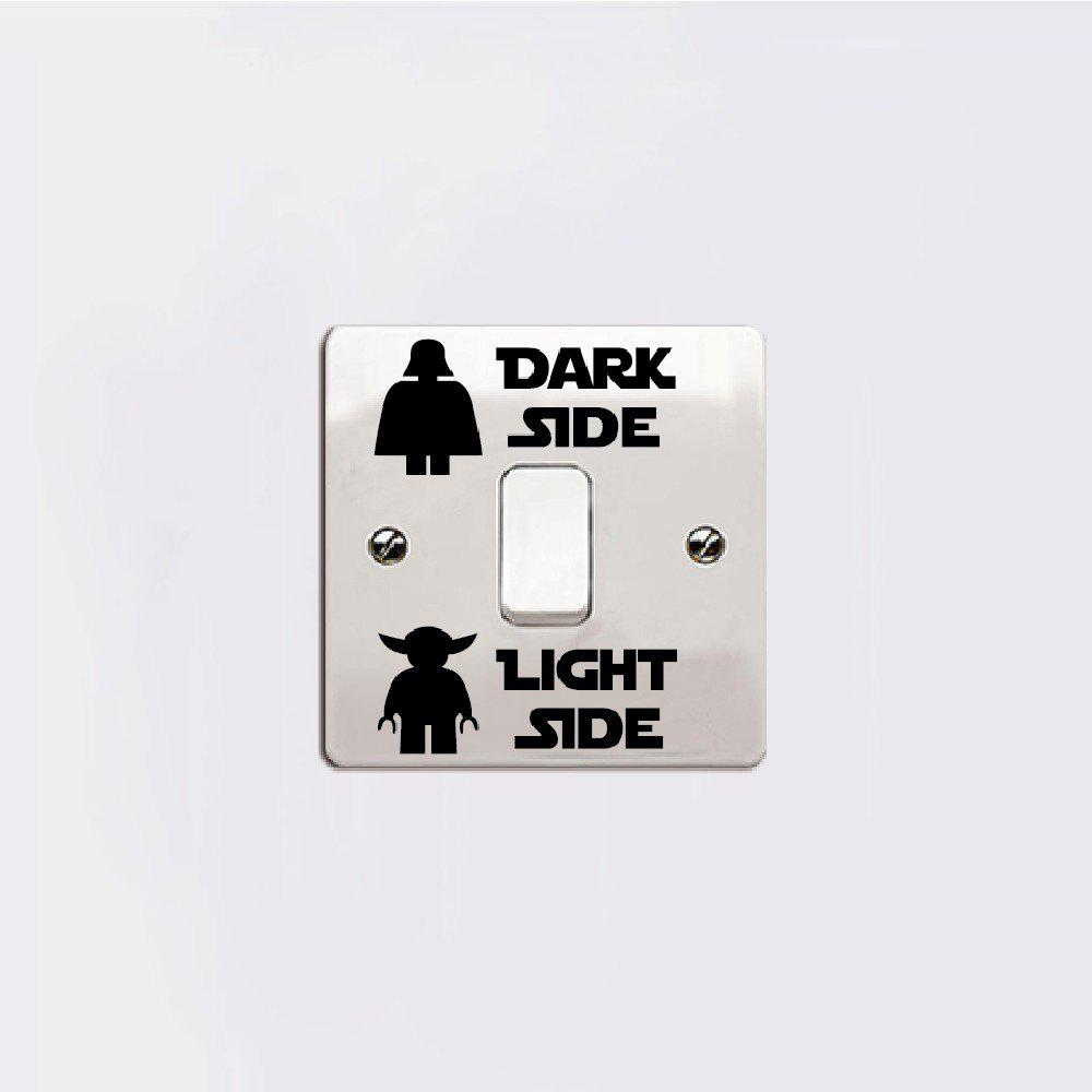 DSU Dark Side Light Side Switch Sticker for Kids Room