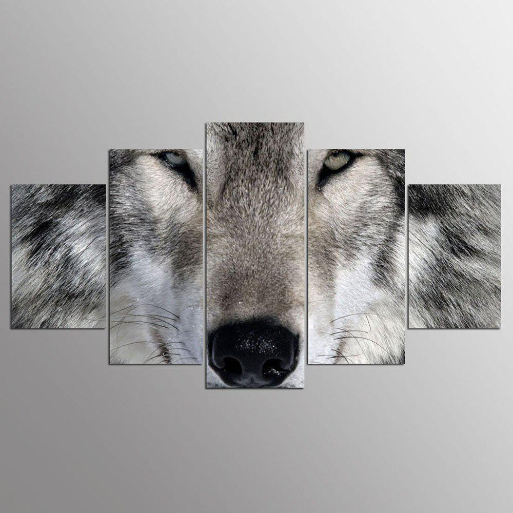 YSDAFEN 5 Panels Wolf Painting for Living Room Wall Art Picture Gift Home Decoration - COLORMIX 30X40CMX2+30X60CMX2+30X80CMX1(12X16INCHX2+12X24INC