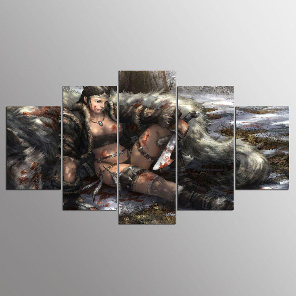 YSDAFEN New Fallout Painting Characters 5 Piece Painting Wall Art Room Decor - COLORMIX 30X40CMX2+30X60CMX2+30X80CMX1(12X16INCHX2+12X24INC