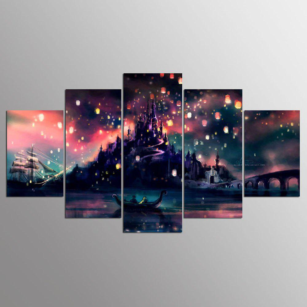 YSDAFEN 5 Panel Harry Potter Hogwarts Style Canvas Printings for Living Room - COLORMIX 30X40CMX2+30X60CMX2+30X80CMX1(12X16INCHX2+12X24INC