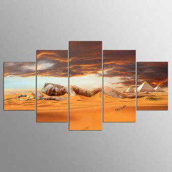 YSDAFEN 5 Pieces/Set Queen of Egypt Wall Art Picture Print Wall Art for Living Room - COLORMIX COLORMIX
