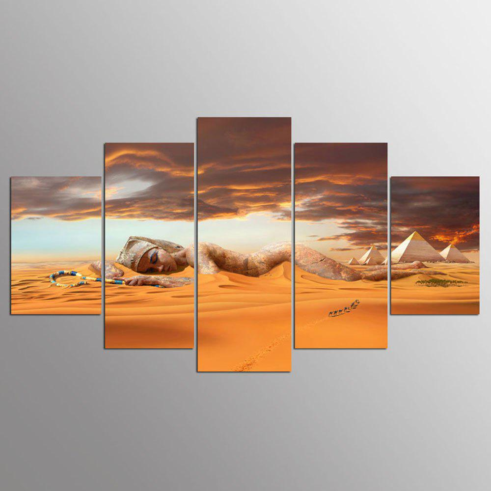 YSDAFEN 5 Pieces/Set Queen of Egypt Wall Art Picture Print Wall Art for Living Room - COLORMIX 30X40CMX2+30X60CMX2+30X80CMX1(12X16INCHX2+12X24INC