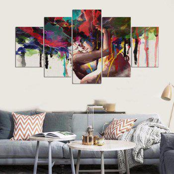 YSDAFEN Canvas Painting Wall Art For Living Room Cuadros Decoracion Wall Poster - COLORMIX 30X40CMX2+30X60CMX2+30X80CMX1(12X16INCHX2+12X24INC