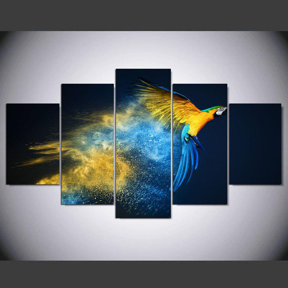YSDAFEN 5 Pieces Color Parrot Birds Wall Art for Home Decoration for Living Room - COLORMIX 30X40CMX2+30X60CMX2+30X80CMX1(12X16INCHX2+12X24INC