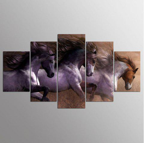 YSDAFEN 5 Piece Animal Canvas Painting Wall Art Picture Horse Movie Cuadros Home Decoration - COLORMIX 30X40CMX2+30X60CMX2+30X80CMX1(12X16INCHX2+12X24INC