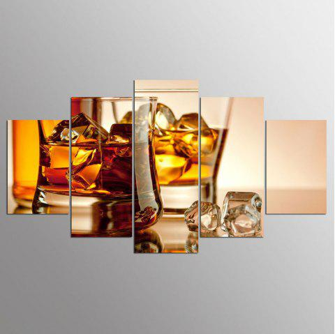 YSDAFEN 5 Pieces Whiskey on Canvas for Home Decoration Wall Art Picture - COLORMIX 30X40CMX2+30X60CMX2+30X80CMX1(12X16INCHX2+12X24INC