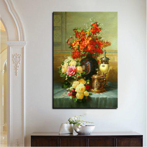 YHHP Canvas High Definition Print European Classical Flowers Art Decoration - COLORMIX 60 X 90CM