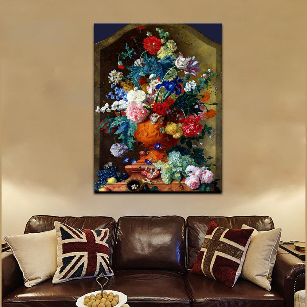 YHHP Canvas Hd Print European-style classical flower Art Wall for Home Decoration - COLORMIX 60 X 80CM