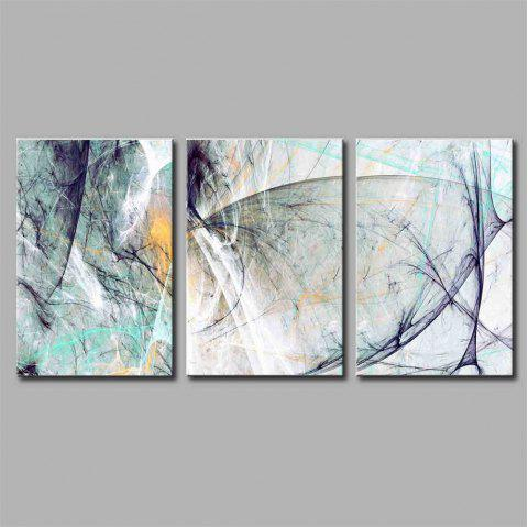 Hua Tuo Abstract Style Stretched Frame Ready To Hang  Size 50 x 70CM A1713 - BLUE 20 X 28 INCH (50CM X 70CM)