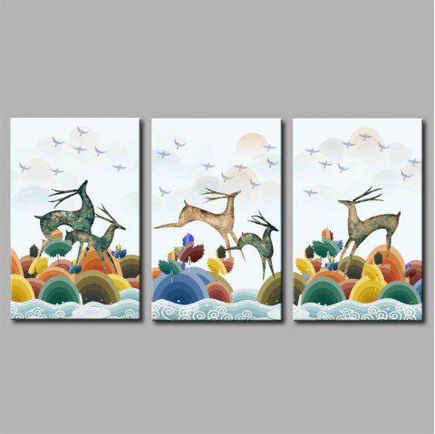 Hua Tuo Deer Style Stretched Frame Ready To Hang Size 50 x 70CM A1720 - COLORFUL 20 X 28 INCH (50CM X 70CM)