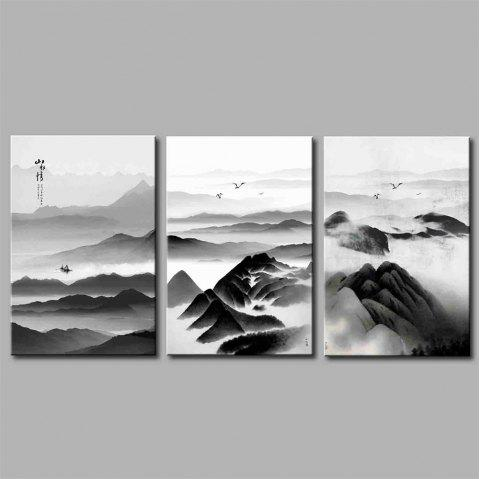 Hua Tuo Landscape Styl Stretched Frame Ready To Hang Size 50 x 70CM A1743 - BLACK 20 X 28 INCH (50CM X 70CM)