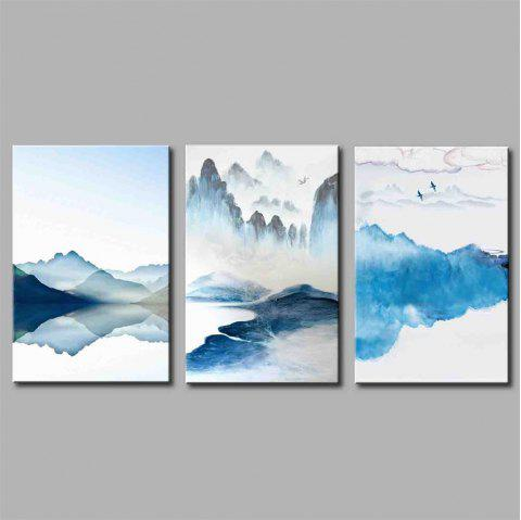 Hua Tuo Landscape Style Stretched Frame Ready To Hang Size 50 x 70CM A1745 - BLUE 20 X 28 INCH (50CM X 70CM)