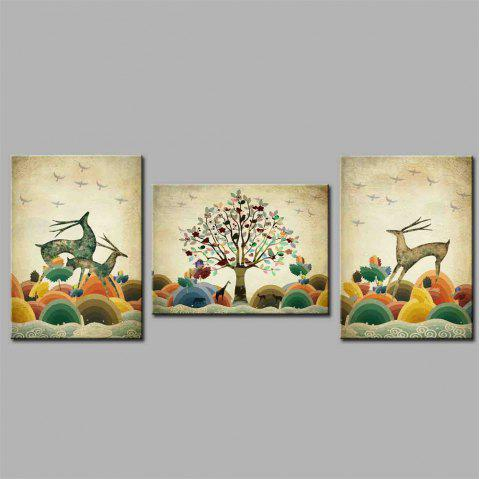 Hua Tuo Deer Style Stretched Frame Ready To Hang Size 50 x 70CM A1742 - COLORFUL 20 X 28 INCH (50CM X 70CM)