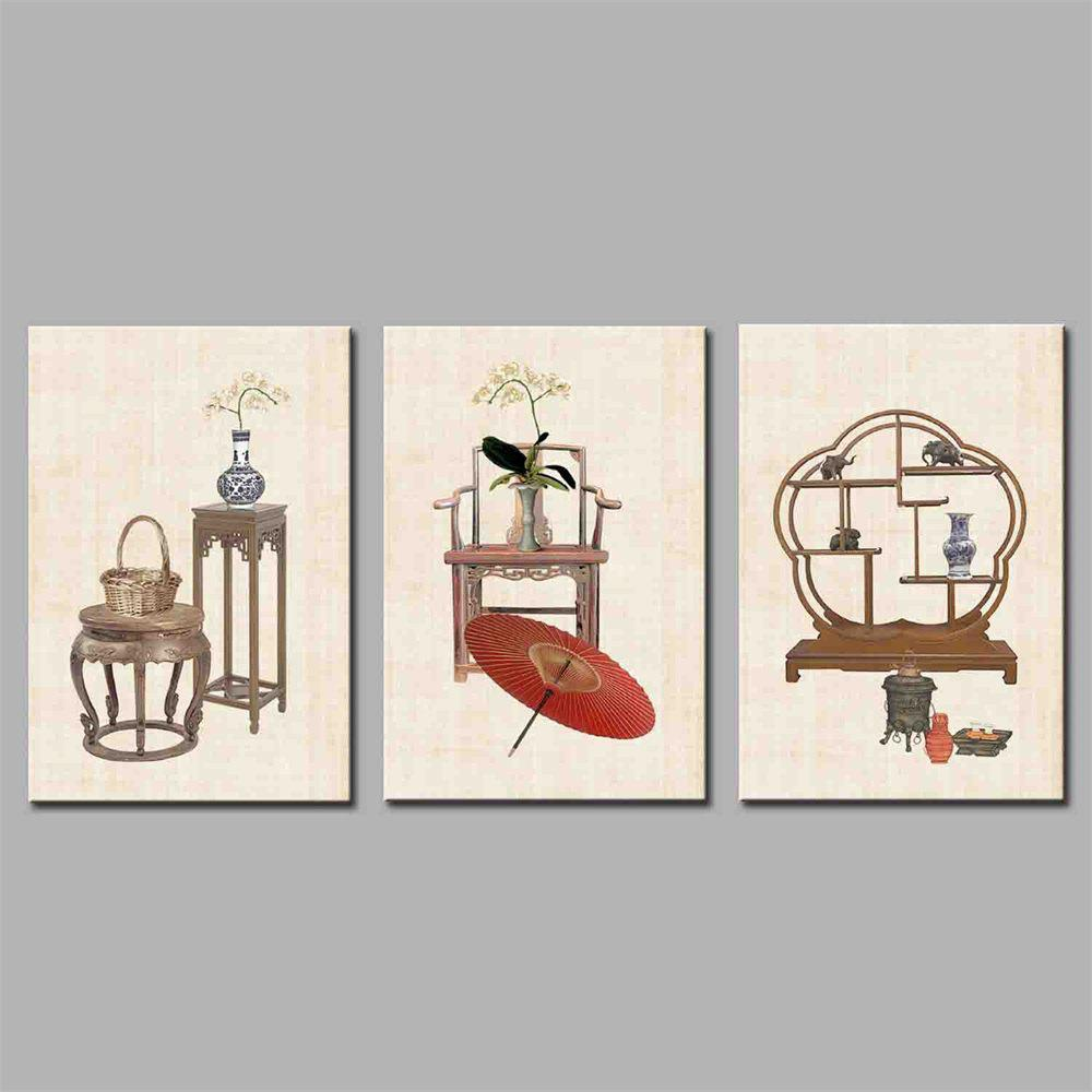 Hua Tuo Still Life Style Stretched Frame Ready To Hang Size 50 x 70CM A1756 - COLORMIX 20 X 28 INCH (50CM X 70CM)