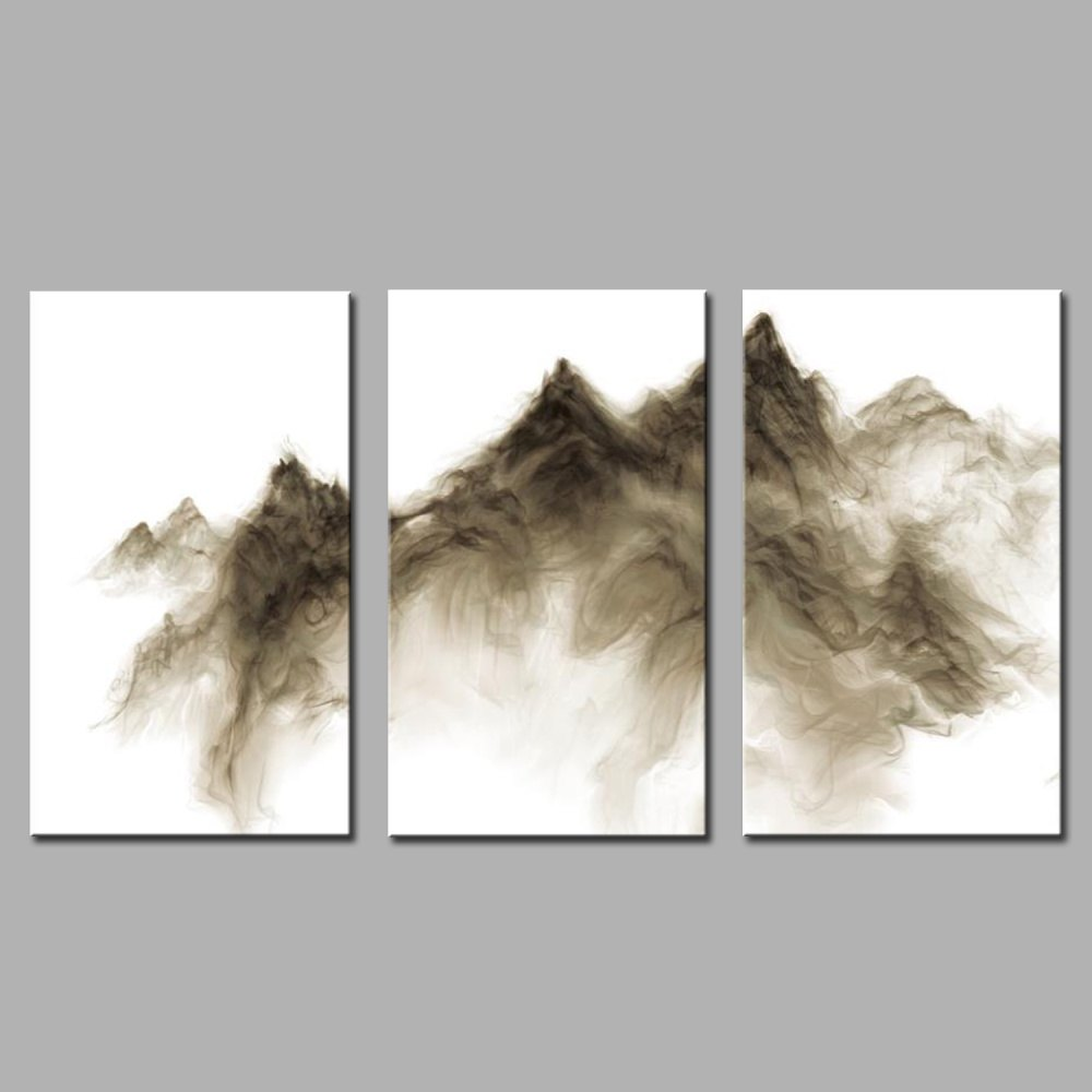 Hua Tuo Abstract Style Stretched Frame Ready To Hang Size 50 x 70CM A1757 - BROWN 20 X 28 INCH (50CM X 70CM)