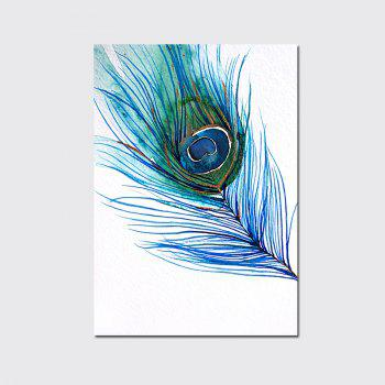 QiaoJiaHuaYuan No Frame Canvas Feather Nordic Living Room Decoration Hanging Print - COLORMIX COLORMIX