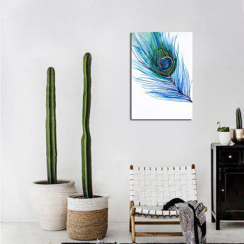QiaoJiaHuaYuan No Frame Canvas Feather Nordic Living Room Decoration Hanging Print - COLORMIX