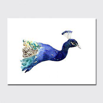 QiaoJiaHuaYuan No Frame Canvas Nordic Living Room Decorated With a Peacock - COLORMIX COLORMIX