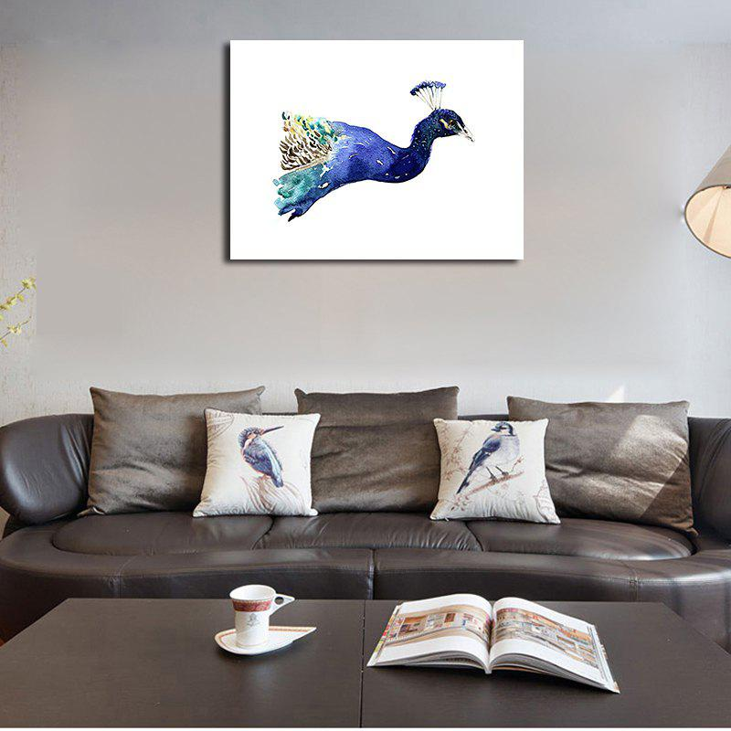 QiaoJiaHuaYuan No Frame Canvas Nordic Living Room Decorated With a Peacock - COLORMIX