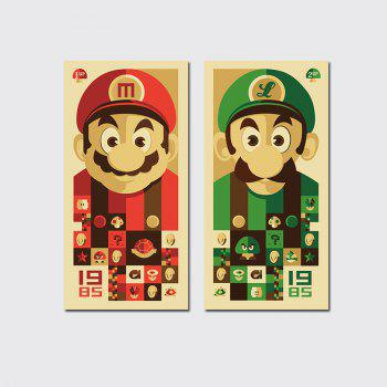 QiaoJiaHuaYuan No Frame Canvas Mario Brothers Group Drawing Sitting Room Bedroom Decoration Painting - COLORMIX COLORMIX