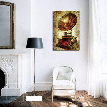 QiaoJiaHuaYuan No Frame Canvas Vintage Phonograph Sitting Room Study Decoration Hanging Print - COLORMIX