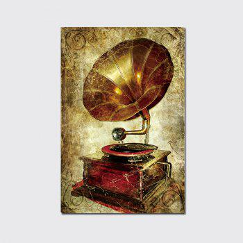 QiaoJiaHuaYuan No Frame Canvas Vintage Phonograph Sitting Room Study Decoration Hanging Print - COLORMIX COLORMIX