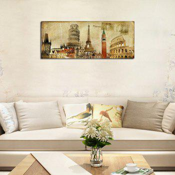 QiaoJiaHuaYuan No Frame Canvas Europe Card Room Sofa Background Decoration Hangs A Picture - COLORMIX