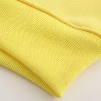 Women's Fashion Large Size Loose Long-Sleeved Plus Cashmere Hoodies - YELLOW M
