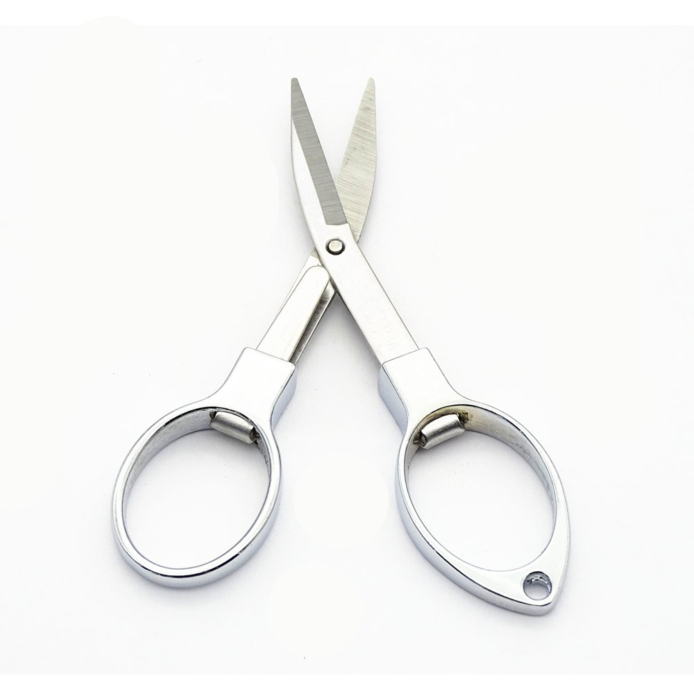 Alloy Travel Folding Nail Scissors 9 x 5CM - SILVER SIZE S