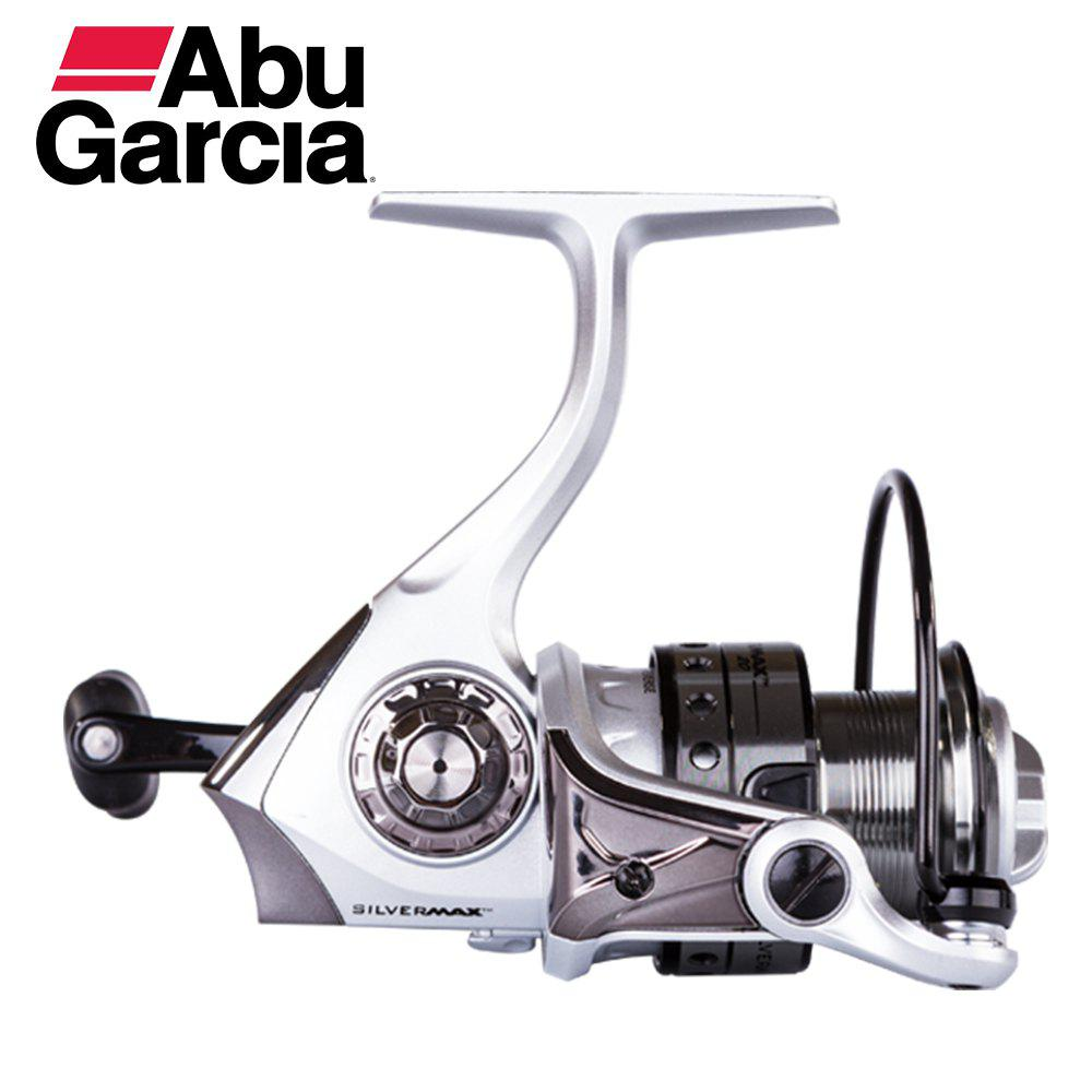 Abu Garcia Silver Max 500 High Value 5+1BB Ball Bearing Freshwater Spinning Fishing Reel - SILVER/BLACK