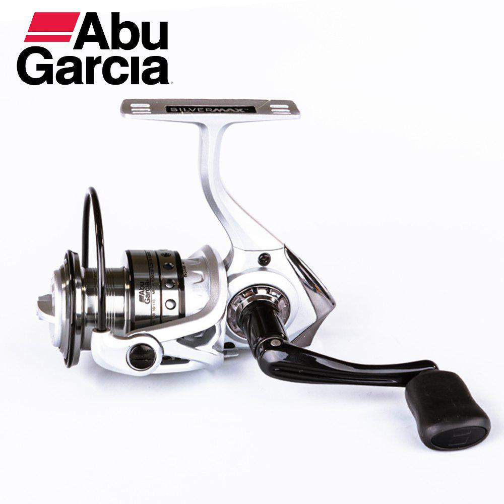 Abu Garcia Silver Max 1000 Top Quality Gear Ratio 5.2:1 Good Price 5+1BB Ball Bearing Spinning Fishing Reel - SILVER/BLACK