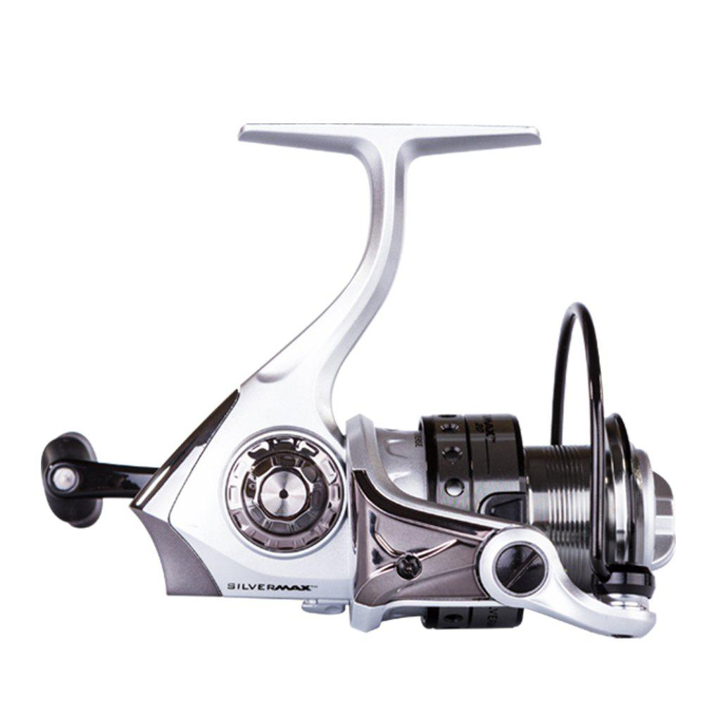 Abu Garcia SILVER MAX 3000 High Quality 3000 5+1 Ball Bearing Gear Ratio 5.1:1 Freshwater Spinning Fishing Reel - BLACK/SILVER