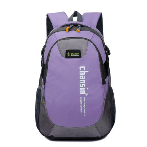 Men Women Casual Travel Package Student Book Backpack - LIGHT PURPLE