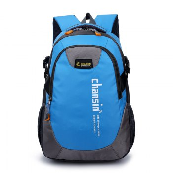 Men Women Casual Travel Package Student Book Backpack - BLUE BLUE