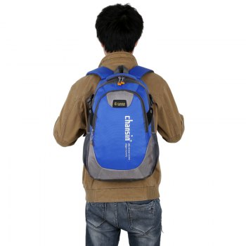 Men Women Casual Travel Package Student Book Backpack - SAPPHIRE BLUE