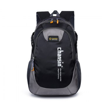 Men Women Casual Travel Package Student Book Backpack - BLACK BLACK