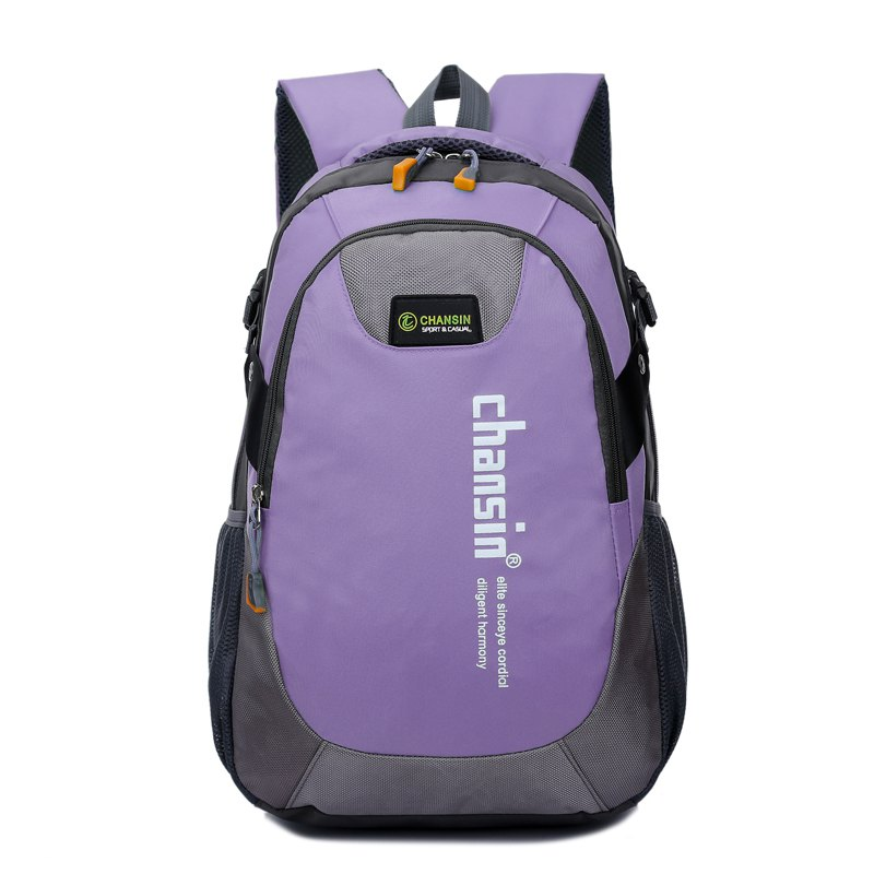 Hommes Femmes Casual Travel Package Student Book Backpack - Violet Clair